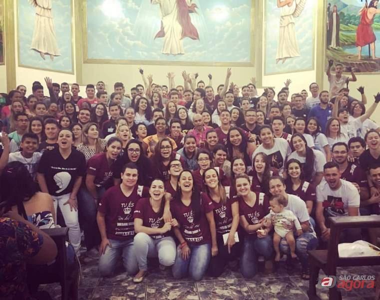 São-carlenses participam do 13º Encontro de Jovens -