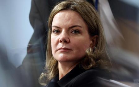 Gleisi, durante julgamento do impeachment de Dilma no Senado. Foto: Reuters/Adriano Machado -