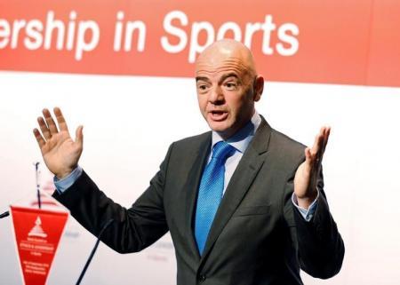 Presidente da Fifa, Gianni Infantino, durante evento em Zurique. Foto: Reuters/Ruben Sprich -