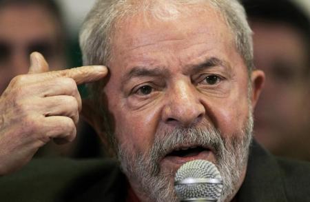 Ex-presidente Luiz Inácio Lula da Silva durante pronunciamento à imprensa em São Paulo. Reuters/Fernando Donasci -