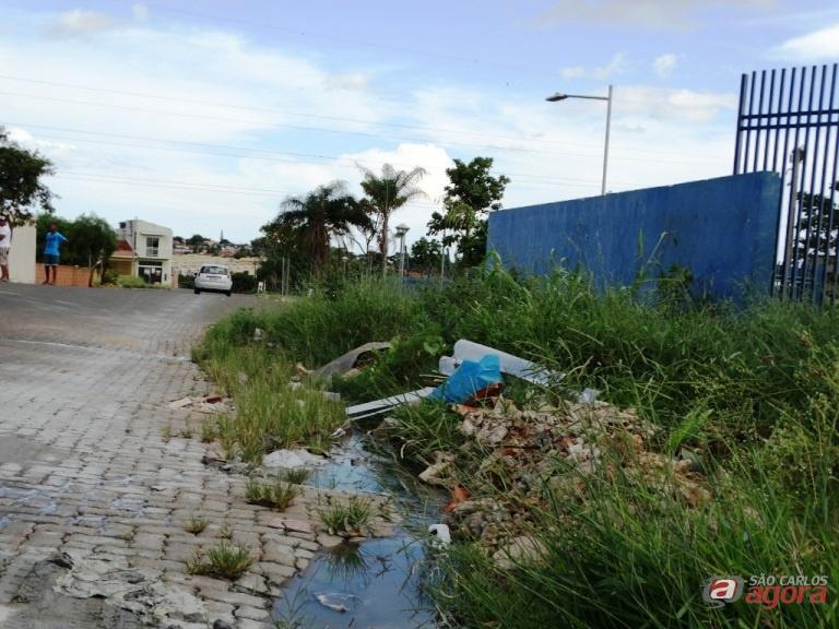 Rua Lodovico Agostinho, no Santa Angelina, possui grande quantidade de entulho abandonado. Foto: Assessoria do vereador -