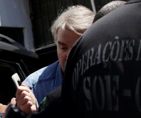 Eike Batista chega ao presídio Ary Franco, no Rio de Janeiro. Foto: Reuters/Ueslei Marcelino -