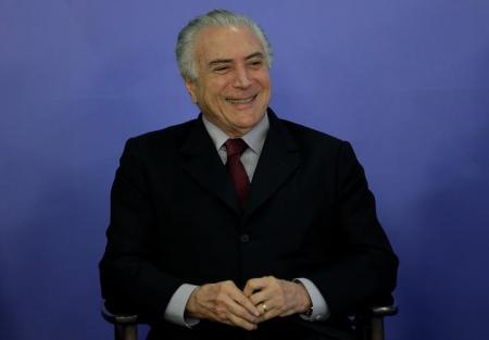 Presidente Michel Temer durante cerimônia no Palácio do Planalto, em Brasília. Foto: Reuters/Ueslei Marcelino -