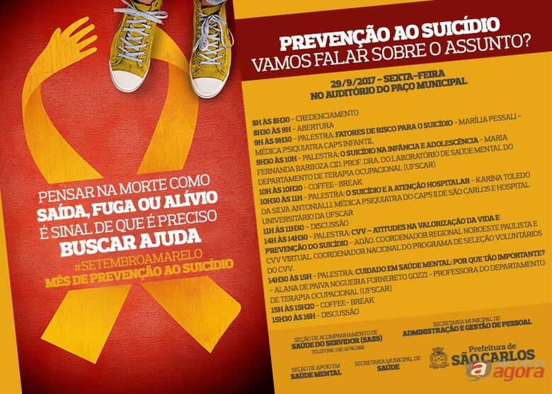 Prefeitura faz conscientização sobre a prevenção do suicídio -