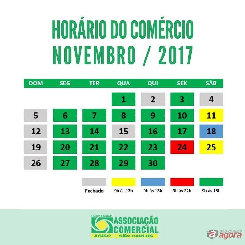 Confira o horário Especial do Comércio para novembro -
