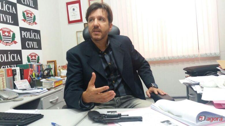 Delegado Gilberto de Aquino da DIG. (foto Milton Rogério) -