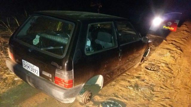 Uno furtado é recuperado pela PM em Ibaté -