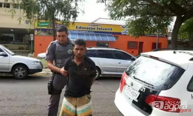 Kleryson Ribeiro dos Santos foi preso pela Polícia Militar. -