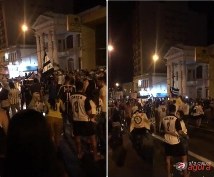 Corintianos festejam em São Carlos o sétimo título nacional do Timão -