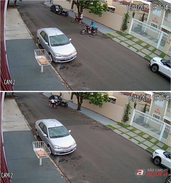 Dupla furta moto no Santa Felícia -