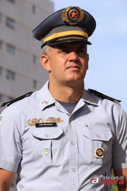 Comandante da PM, Capitão Nucci. (foto Marco Lucio) -