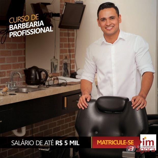 Curso de Barbearia Profissional no Instituto Mix São Carlos -