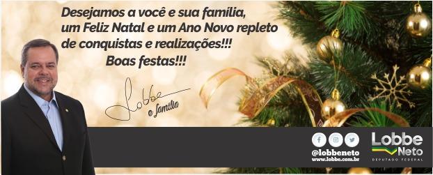 Deputado Federal Lobbe Neto deseja Feliz Natal a todos -