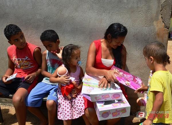 Famílias da área rural recebem doações do Fundo Social -