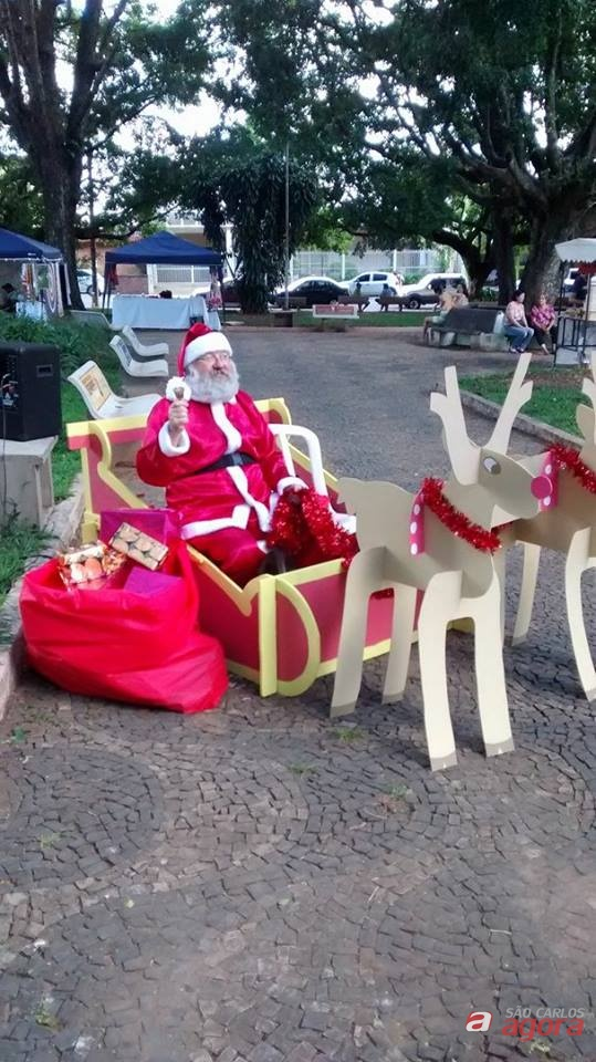 Chegada do Papai Noel é neste domingo, na Praça XV -