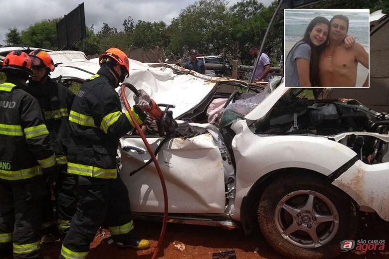 Pai e filha morrem em acidente na Anhanguera -