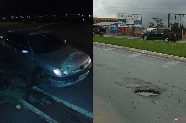 Prefeitura de São Carlos é condenada a indenizar mulher que teve veículo danificado por buraco -