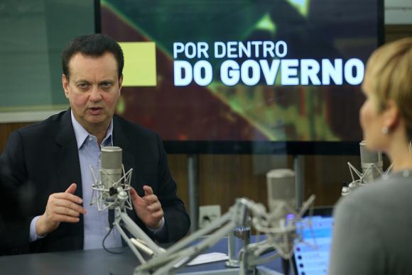 O Ministro da Ciência e Tecnologia , Inovações e Comunicações, Gilberto Kassabr, participa do programa Por Dentro do Governo da TV NBR - Crédito: José Cruz/Agência Brasil