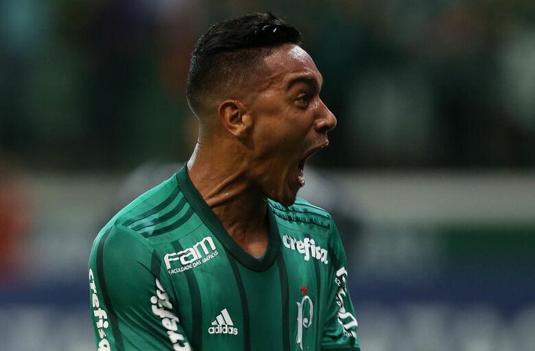 Antonio Carlos abriu o placar na vitória palmeirense - Crédito: César Greco/Agência Palmeiras