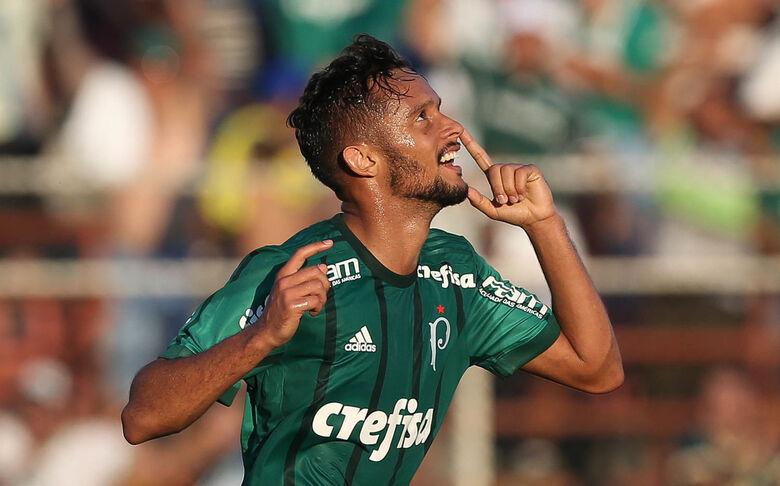 Scarpa desencantou e fez dois gols na vitória frente o Ituano - Crédito: Cesar Greco/Agência Palmeiras/Divulgação