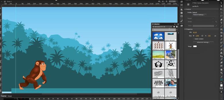 Curso mostrará como funciona a ferramenta Adobe Animate CC, que antes era conhecida como Flash Professional - Crédito: Adobe Animate CC