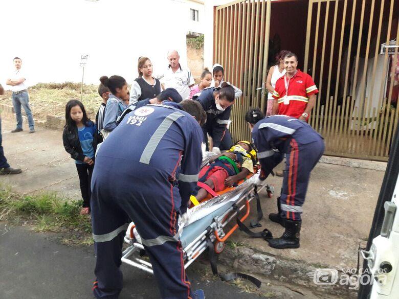 Garoto de 10 anos é atropelado por ônibus na região do Moradas - Crédito: Maycon Maximino