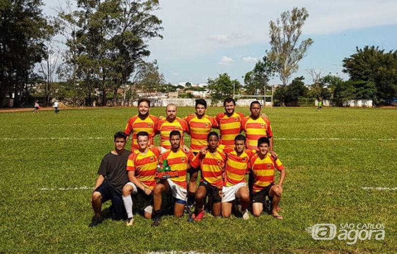 Em Bauru, São Carlos comemorou o título com um time juvenil - Crédito: Divulgação
