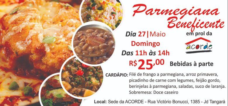"""Parmegiana Beneficente é o """"prato do dia"""" na Acorde -"""
