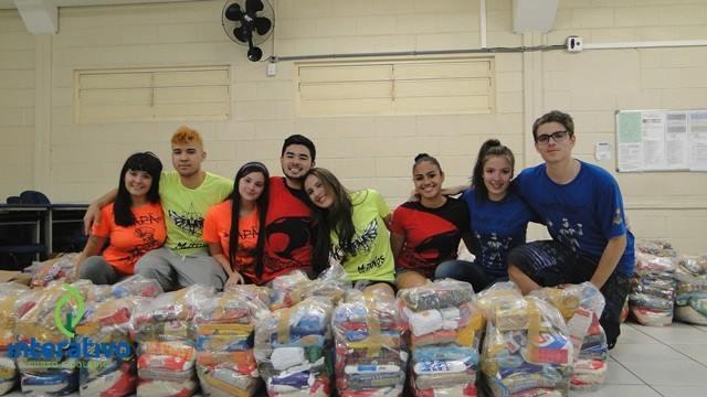 No ano passado, cestas básicas foram doadas para entidades assistenciais - Crédito: Divulgação