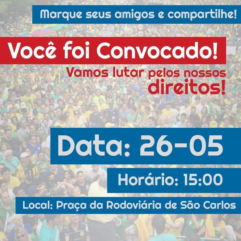 São-carlenses se unem para mais um manifesto por um Brasil melhor -