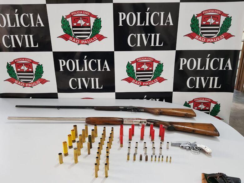 DIG apreende armas e munições em residência - Crédito: Divulgação/Polícia Civil
