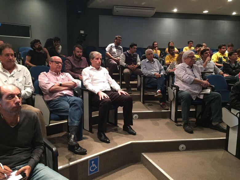 """""""A nossa cidade merece um centro comercial mais moderno e seguro"""", disse Zelão, durante o evento - Crédito: Divulgação"""