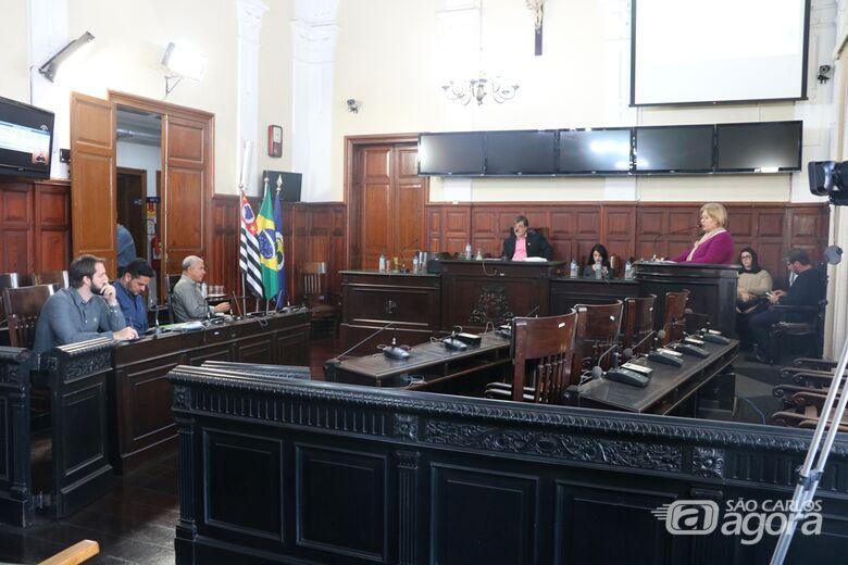 Os representantes da SMS responderam às perguntas dos vereadores presentes - Crédito: Divulgação