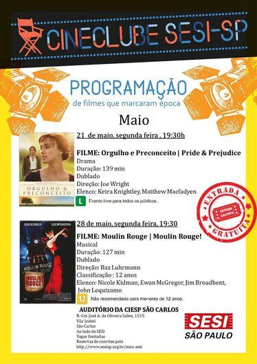 Cine Clube Sesi exibe filmes às segundas-feiras -