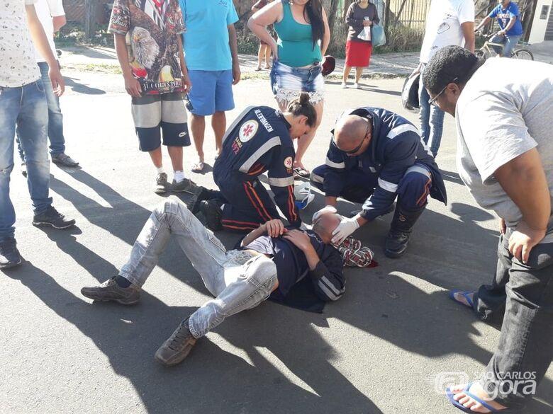 Homem fica ferido após cair de burro - Crédito: Colaborador