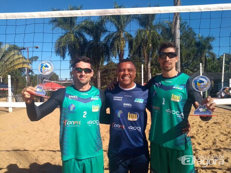 No vôlei de praia, a dupla são-carlense continua invicta na temporada - Crédito: Divulgação