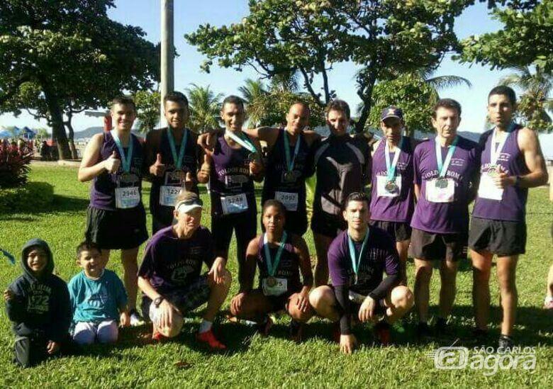 Equipe são-carlense conquistou expressivos resultados em Santos - Crédito: Divulgação