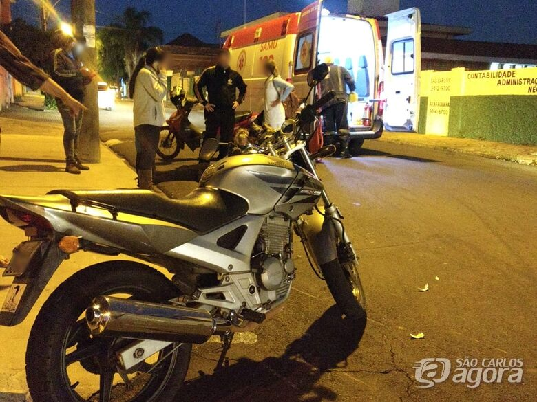 Motociclista sofre acidente no Centro - Crédito: Foto Luciano Lopes