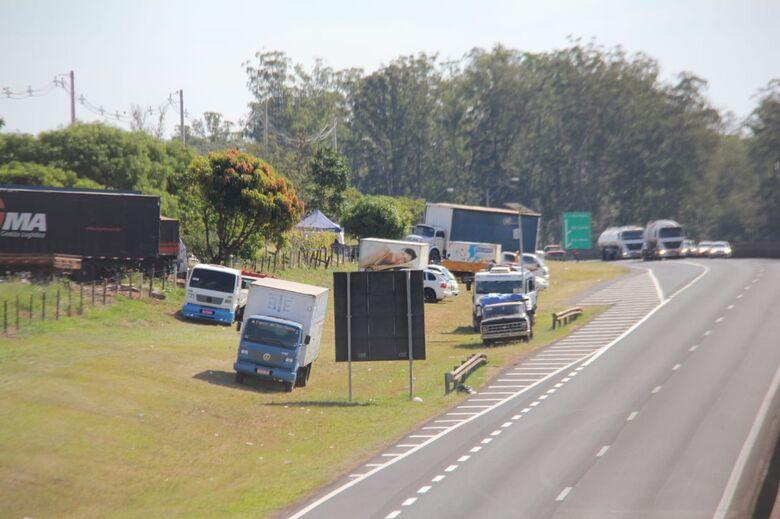 Polícia Rodoviária atualiza situações dos pontos de paralisação na região de São Carlos - Crédito: Maycon Maximino