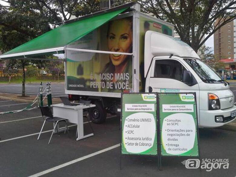 Unidade Móvel Acisc presta serviço nos bairros de São Carlos - Crédito: Divulgação