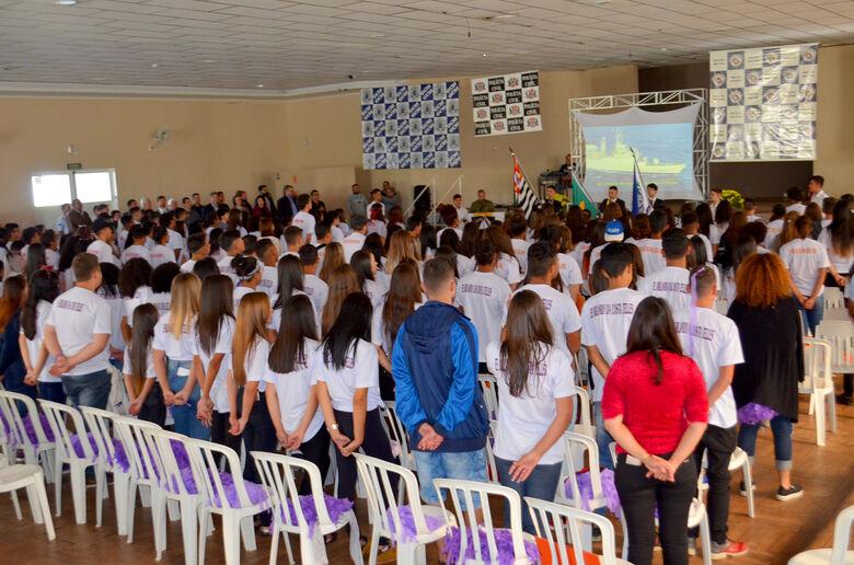 Autoridades participam da abertura da Semana da Segurança Pública de Ibaté - Crédito: Divulgação