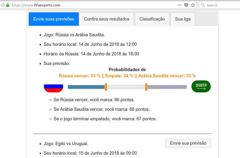 Projeto da UFSCar recebe palpites para Copa do Mundo - Crédito: Divulgação