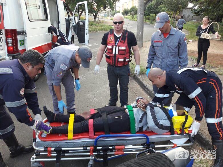 Atropelamento fere motociclista e pedestre no Botafogo - Crédito: Maycon Maximino