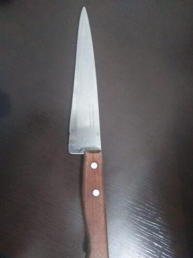 Armado de faca, homem ameaça ex-mulher de morte - Crédito: Maycon Maximino