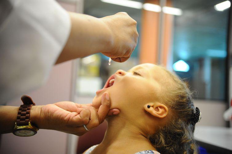 Campanha de vacinação contra a poliomielite será realizada de 6 a 24 de agosto - Crédito: Tomaz Silva/Agência Brasil