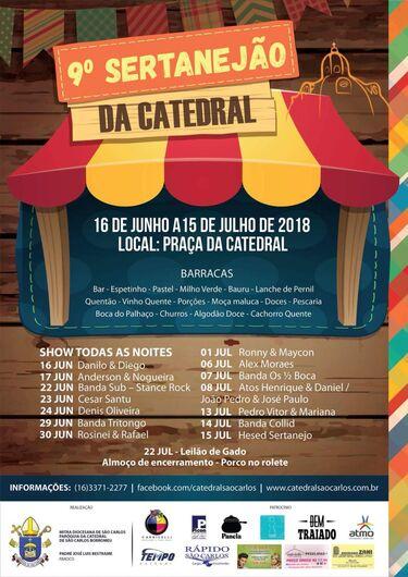 Sertanejão da Catedral promete finais de semanas agitados em São Carlos -