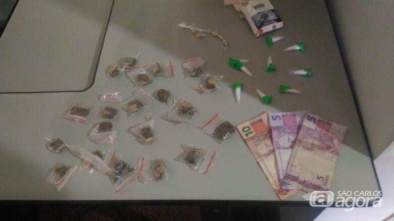 Adolescente é flagrado com cocaína, maconha e crack no Aracy - Crédito: Divulgação
