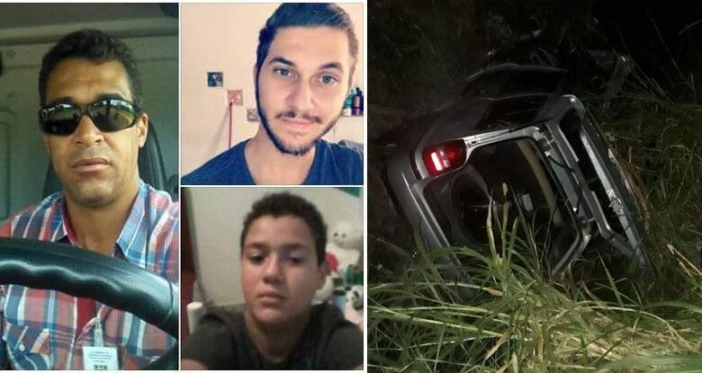Acidente na região termina com a morte de pai, filho e sobrinho - Crédito: Redes Sociais