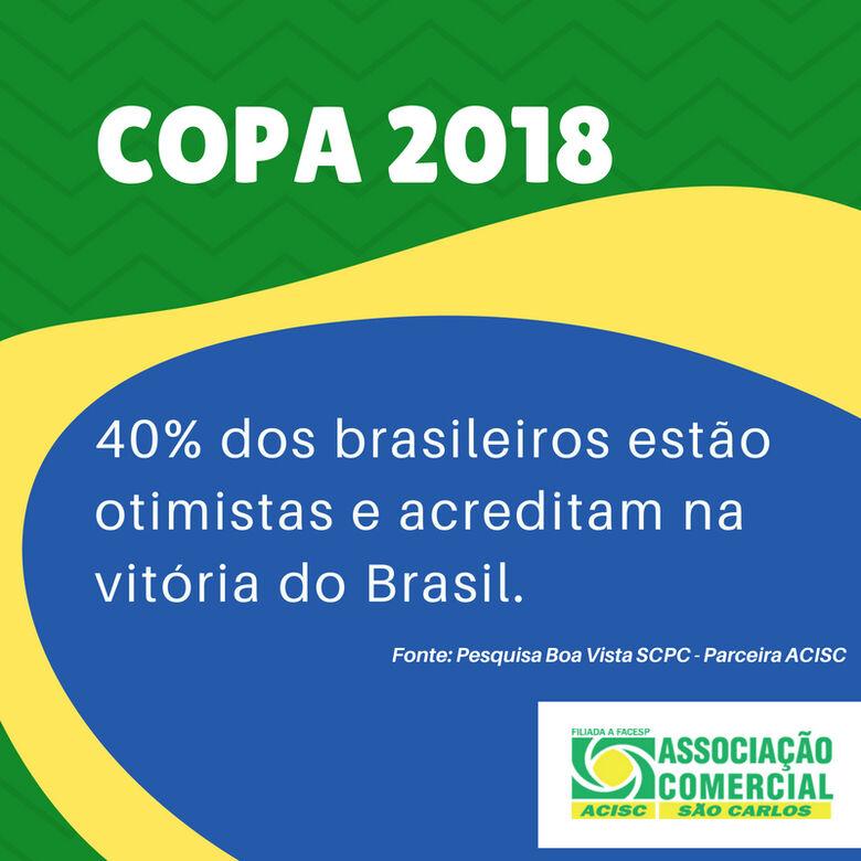 40% dos brasileiros estão otimistas e acreditam na vitória do Brasil -