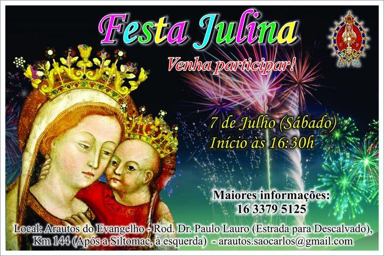 Arautos do Evangelho anuncia festa julina -